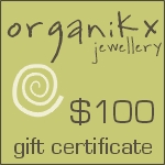 $100 Dollar Gift Certificate for Organikx Jewelry
