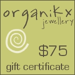 $75 Dollar Gift Certificate for Organikx Jewelry
