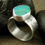 Chunky turquoise sterling silver ring