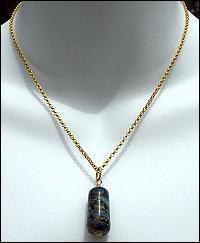 SANDY SHORES  Lampwork Focal & 14kt Gold-Fill Necklace
