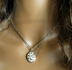 dalmation jasper necklace