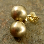 Solid 14k gold ball stud earrings